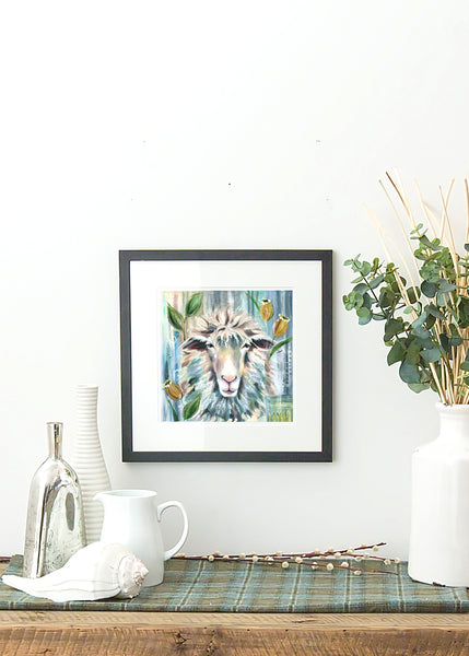 Sheep - Framed Print by Susan Leigh