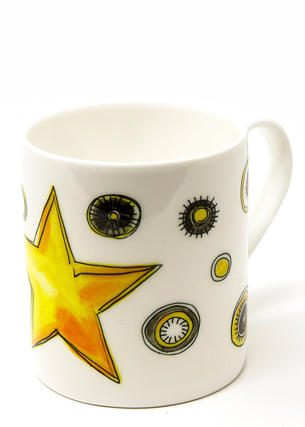 Star - A Fine Bone China Mug by Susan Leigh