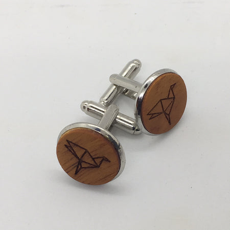 Boutons de Manchettes - Collection Origami - WOODSTAG