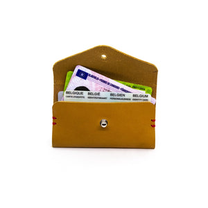 porte-cartes en cuir WOODSTAG recycle made in Belgique