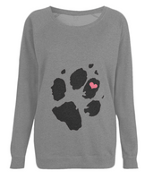 Paw Heart,Women's Raglan Sweatshirt