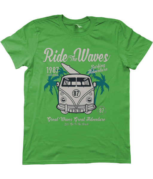 Ride The Waves, Men's T-Shirt Ride
