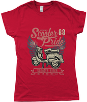 Scooter Pride, Ladies Fitted T-Shirt