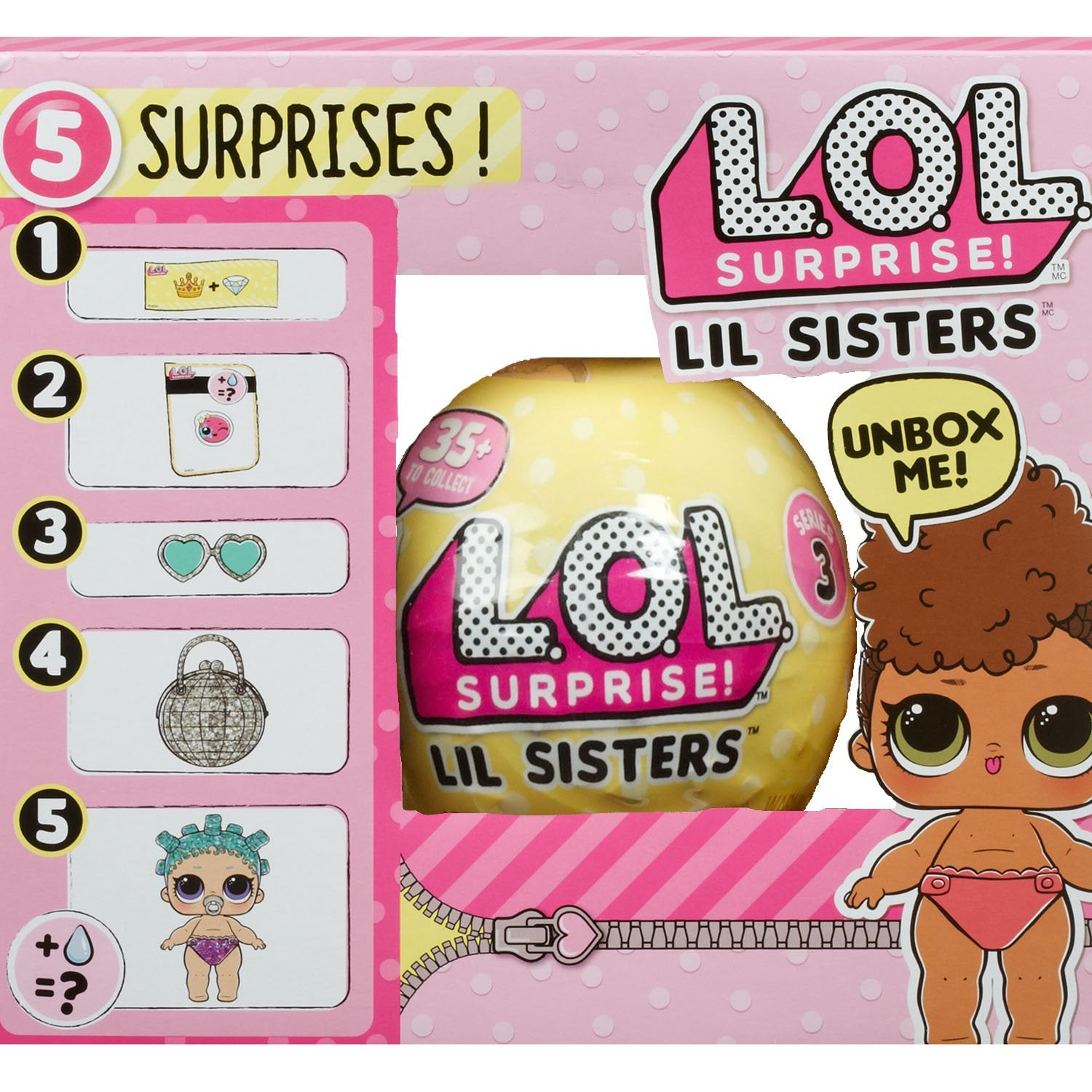 Lol Lol Surprise Lil Sisters Ball Series 3 World Wide Toys