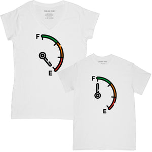 Running on Empty & Full of Fuel Mother and Daughter Matching T-shirt Set