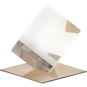 LAREINA SMALL CLEAR GLASS CUBE