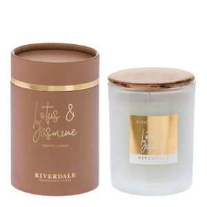 LOTUS AND JASMINE SCENTED CANDLE