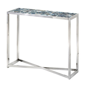 AGATE BLUE STONE CONSOLE TABLE