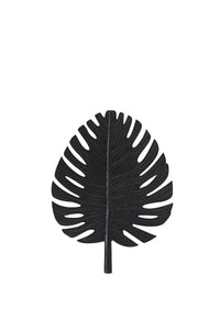 LEAF SMALL BLACK WALL ORNAMENT