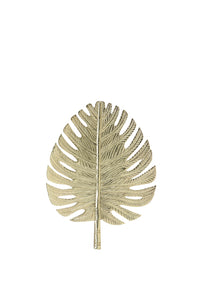 LEAF SMALL GOLD WALL ORNAMENT