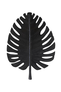 LEAF LARGE BLACK WALL ORNAMENT
