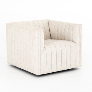 AUGUSTINE SWIVEL CHAIR - BEIGE LINEN