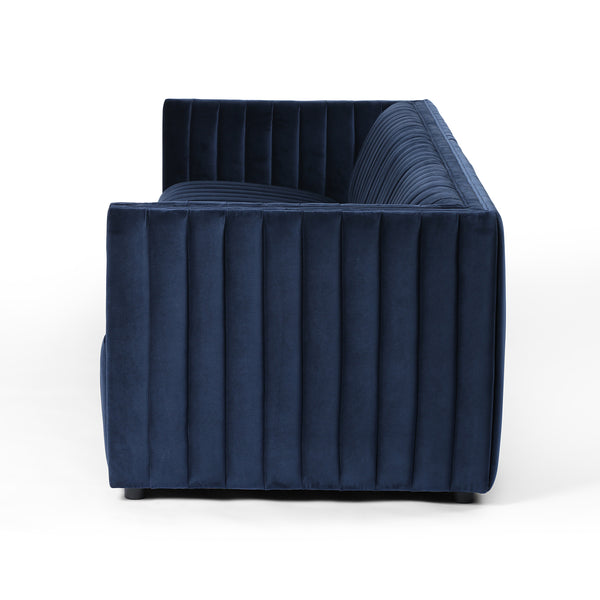 AUGUSTINE LIVING SET - NAVY VELVET - 2 SOFAS & 2 CHAIRS