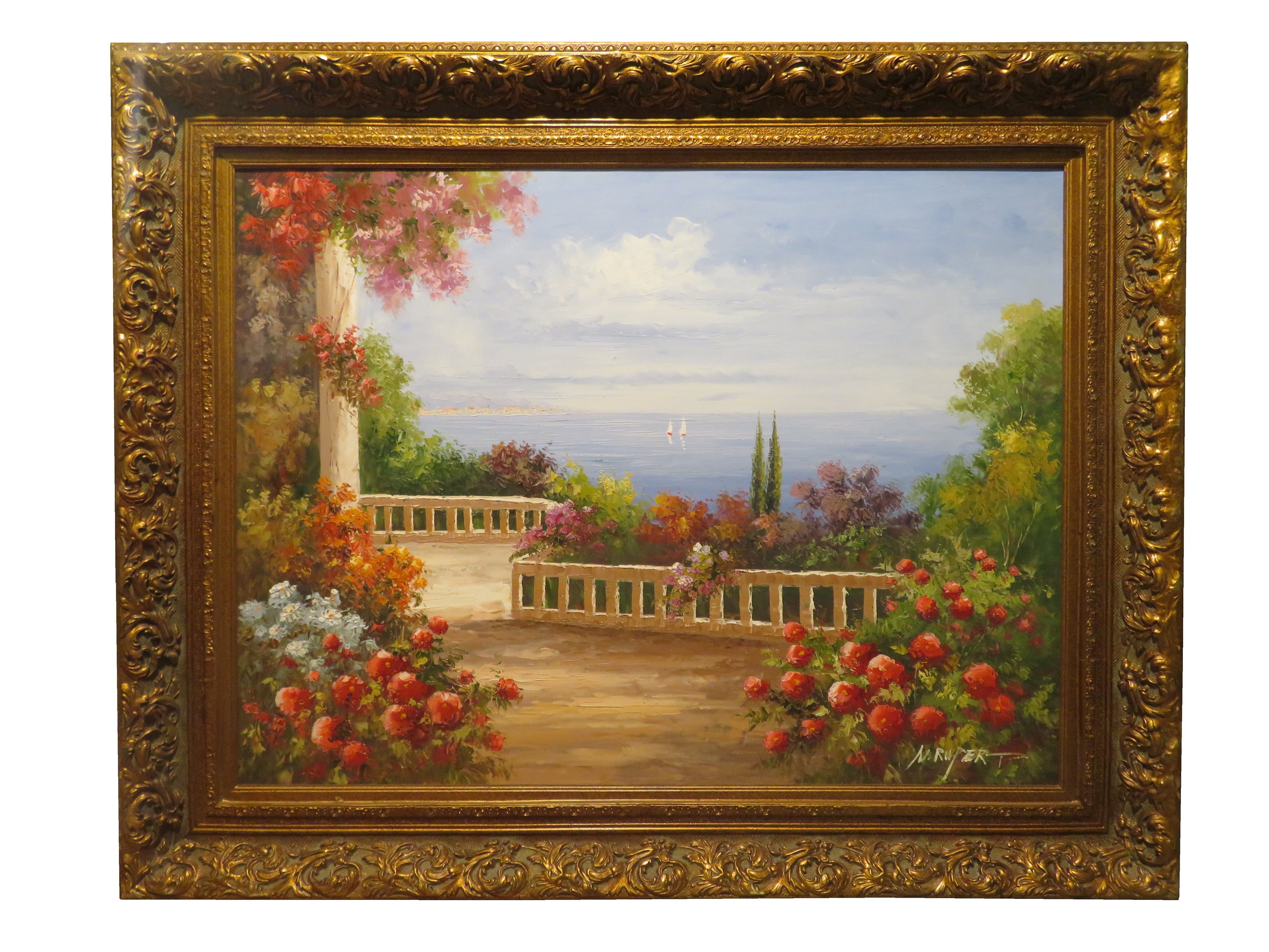 ELEGANT HOME | البيت الأنيق CLASSICAL OIL PAINTING WITH FRAME 92X122