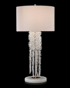CASCADING CRYSTAL FALLING TABLE LAMP