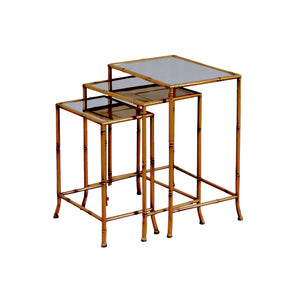 NEST OF TABLES - SET OF 3 IN GOLD FINISH