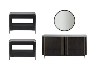 NINA MAGON DARK DRESSER & NIGHTSTANDS
