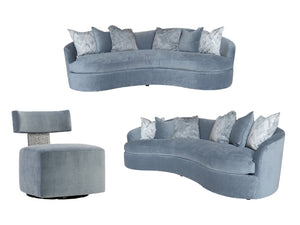 MODERNE  LIVING SET - 2 SOFAS & 2 CHAIRS