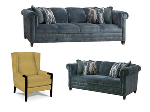 SPRINGFIELD LIVING SET  - 2 SOFAS & 2 CHAIRS
