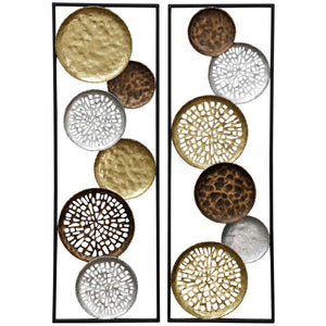 METAL WALL SCULPTURE - SET OF 2