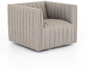 AUGUSTINE SWIVEL CHAIR - GREY LINEN