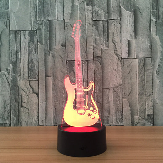 Guitar led table lamp hoff technology guitar led table lamp aloadofball Image collections