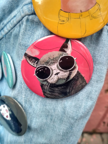 Pin-Back Buttons : Cat