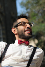 Monki Bow Tie : Purple and Red Geometrical