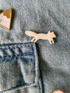 Enamel Pins : White Fox