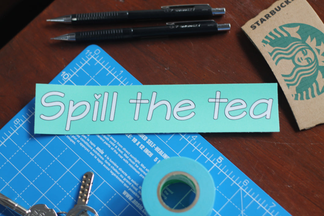 Spill the Tea : Monki Laptop Sticker