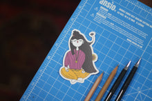 Zen Girl : Monki Laptop Sticker