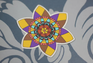 Purple Flower Mandala : Monki Laptop Sticker