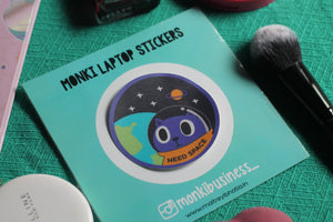 Need Space : Monki Laptop Sticker