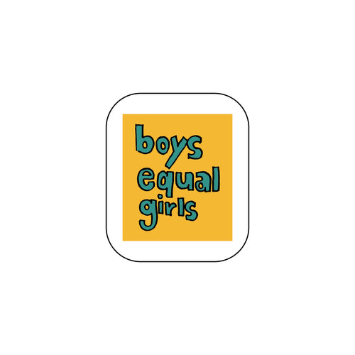 Boys Equal Girls : Monki Laptop Sticker