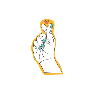 Korean Hand Symbol For Love : Monki Laptop Sticker