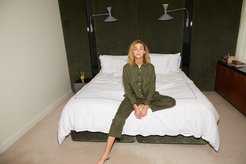 Olive Linen Long Pyjama Set - 8 left!