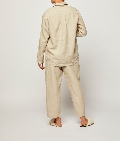 Sicilian Stone French Linen Long Pyjama Set