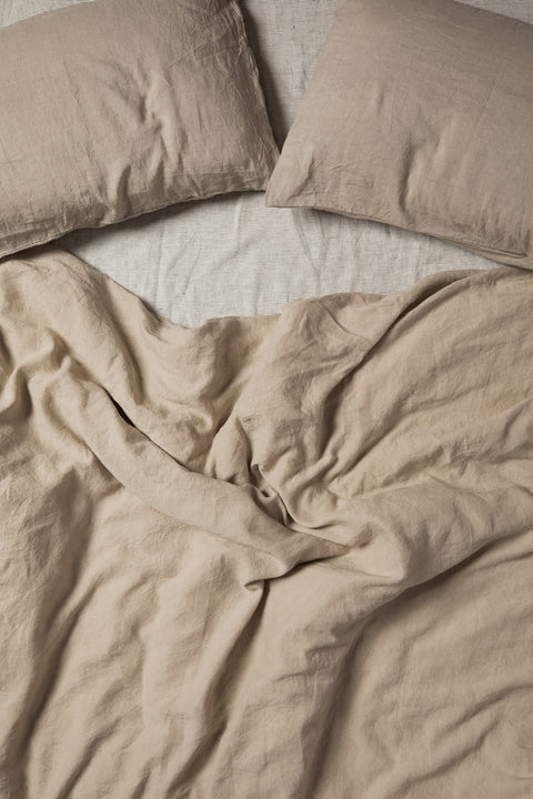 Sicilian Stone French Linen Duvet Set