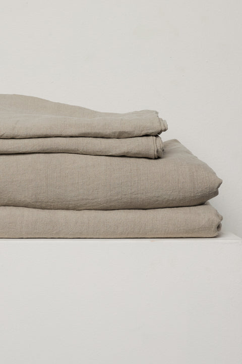 Sicilian Stone French Linen Sheet Set