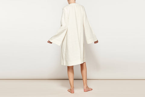 Ivory Linen Resort Dress