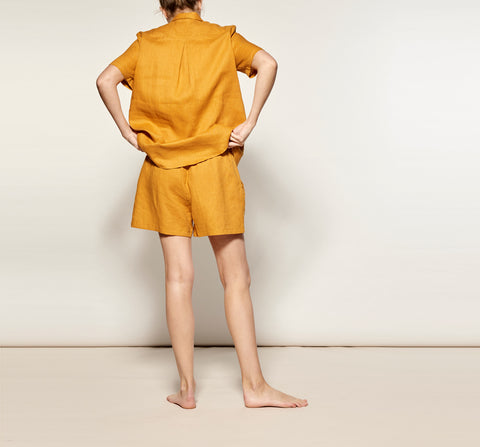 Mustard Linen Short Pyjama Set - 4 left!
