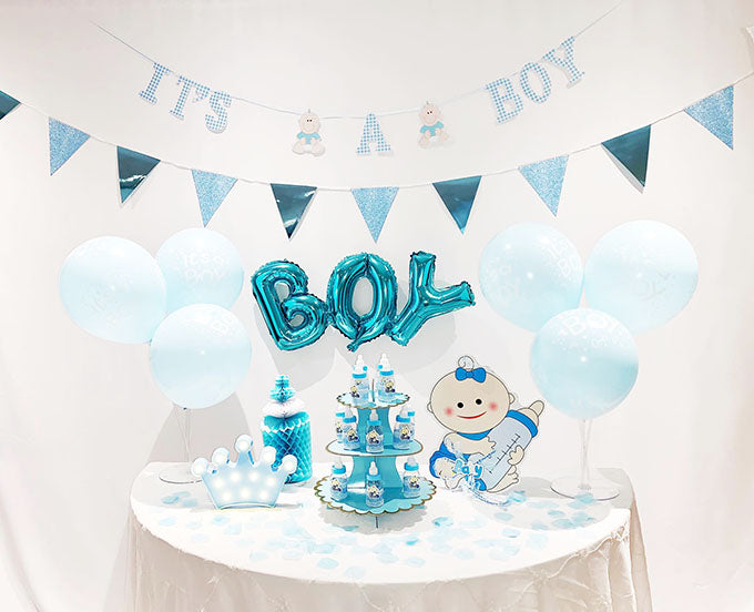 Blå Baby Shower Boy Pakke