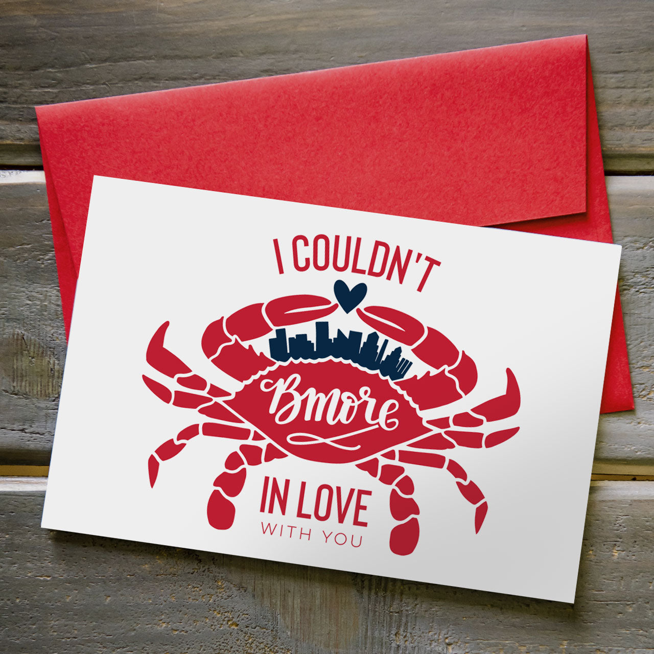 Bmore in Love - Greeting Card