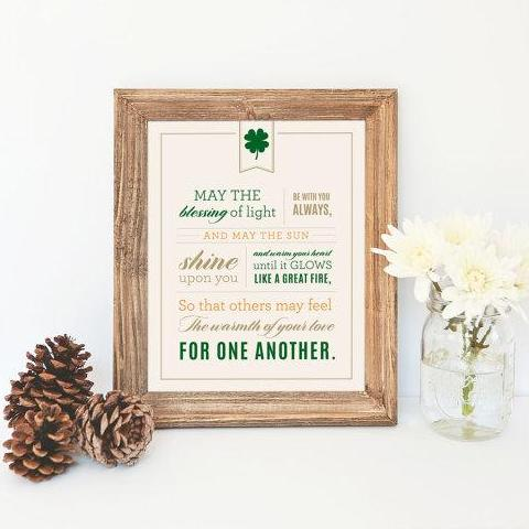 "Irish Blessing - 8""x10"""