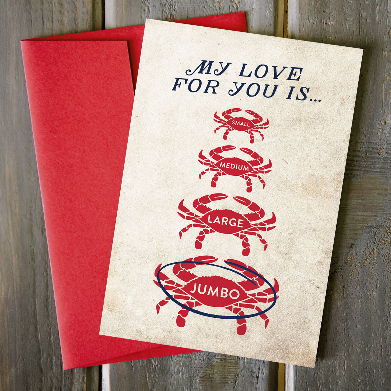 Jumbo Love - Greeting Card