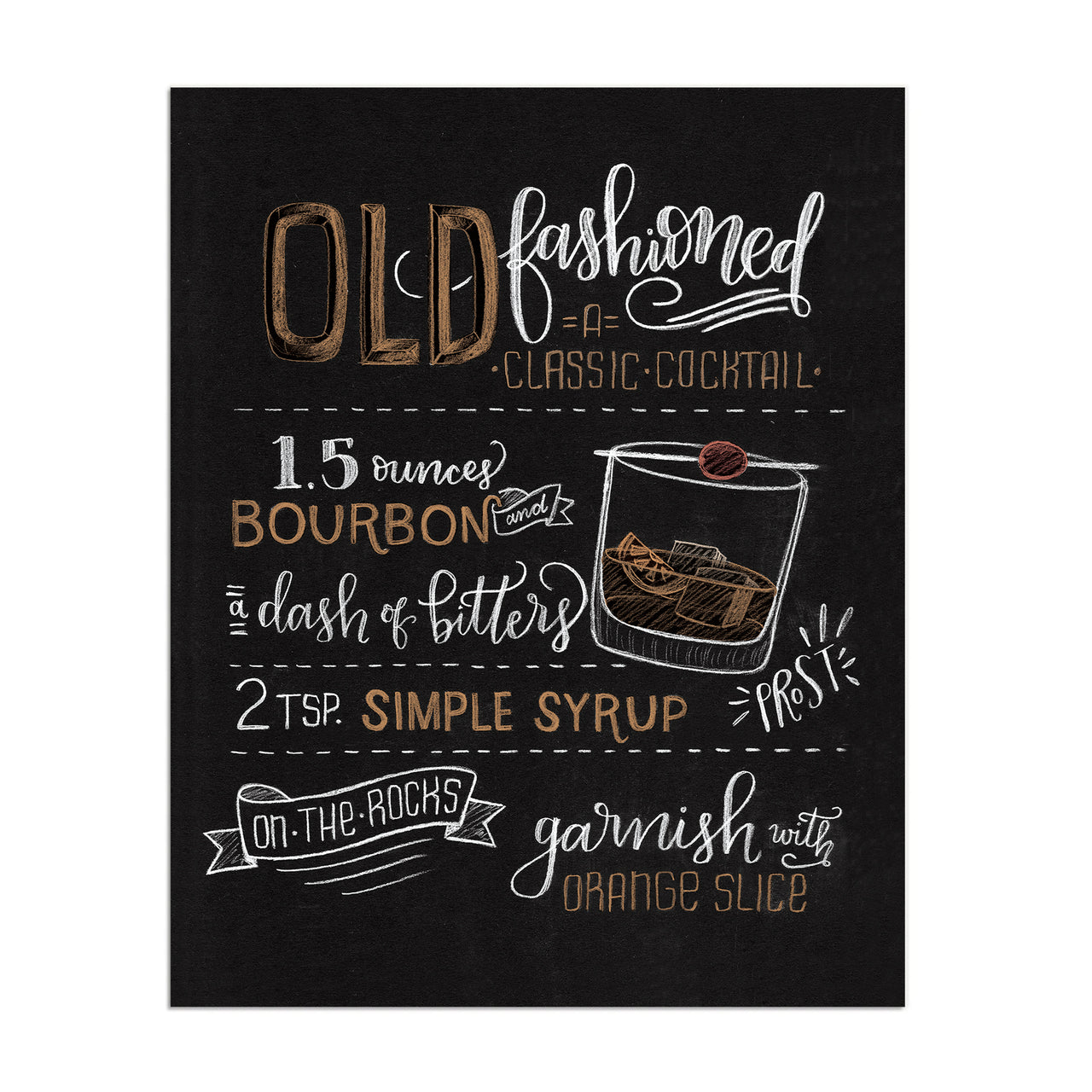 "Old Fashioned - 8""x10"""