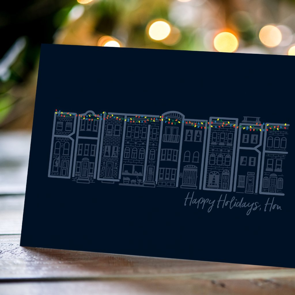 Rowhouses - Holiday Card