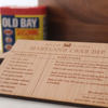 Crab Dip Wooden Recipe Card