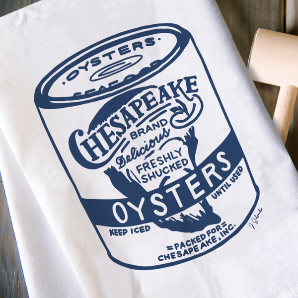 Oyster Tin - Kitchen Towel