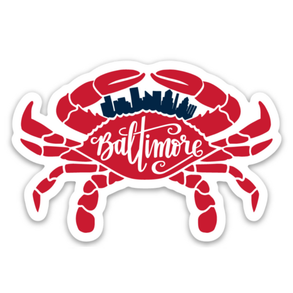 Baltimore Crab Sticker